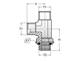 АДАПТЕР L-ОБРАЗНЫЙ C КОНТРГАЙКОЙ BSP 60°/BSP (ISO 228 -PF) (ISO1179-3)