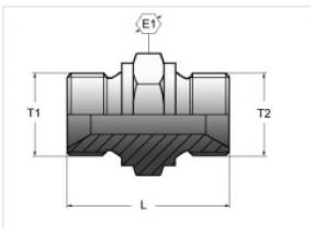АДАПТЕР ПРЯМОЙ BSP 60° (ISO 228-PF)